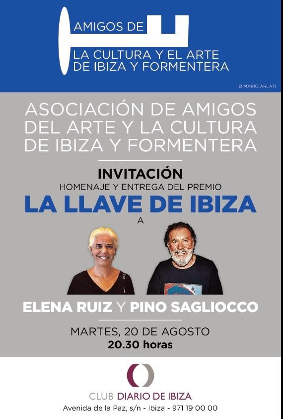 La Llave de Ibiza a Elena Ruiz y al productor musical Pino Sagliocco.