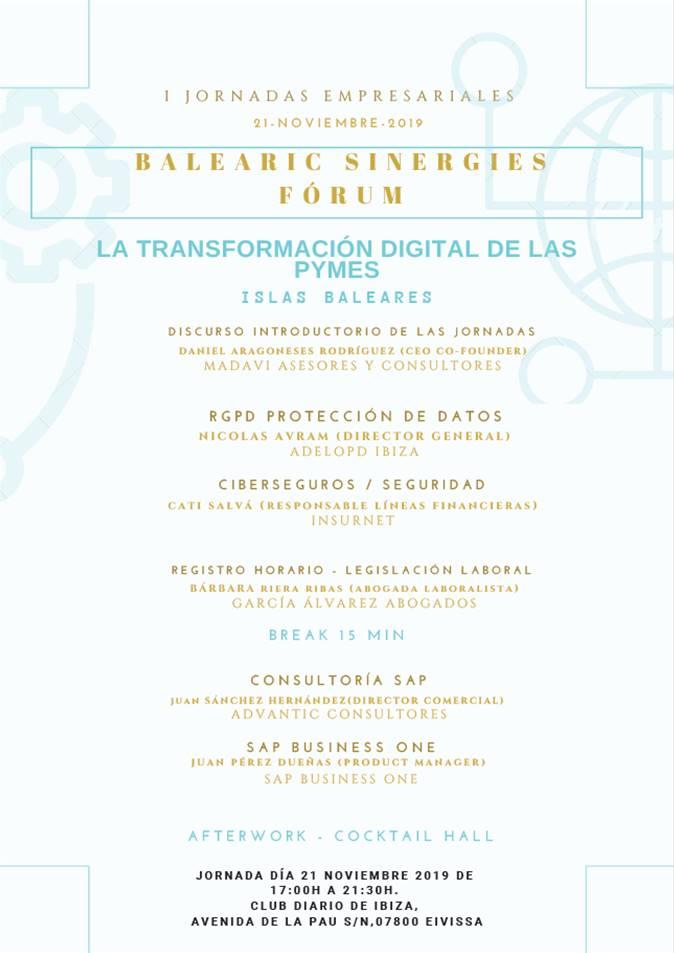 Programa Jornada Empresarial Ibiza